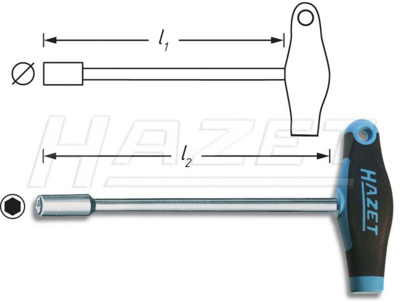 Hazet Zeskant T-Sleutel 13mm