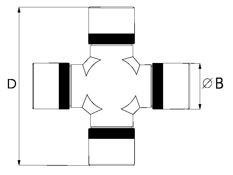 Kruisstuk T60 92x30,2mm