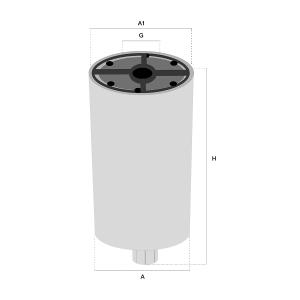 FS19772 Brandstofflter, Waterafscheider