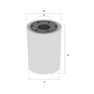 HF6131 Hydrauliek filter