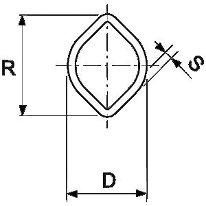 Buitenbuis WS 2a 57,5x3,8mm 1000mm