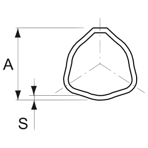 Binnenbuis Serie 1 Driehoekig 26,6x3,5mm 1000mm